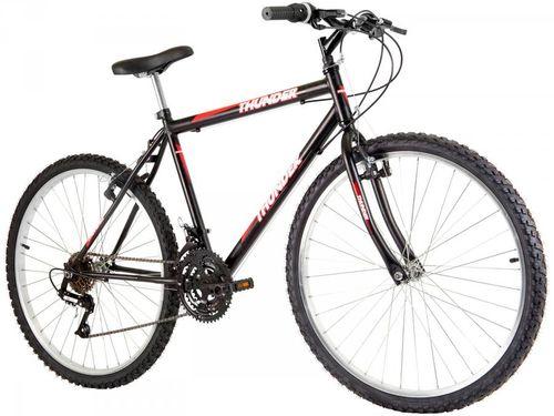 Bicicleta Track & Bikes Thunder 18V Aro 26 - 18 Marchas Quadro de Aço Freio V-Brake