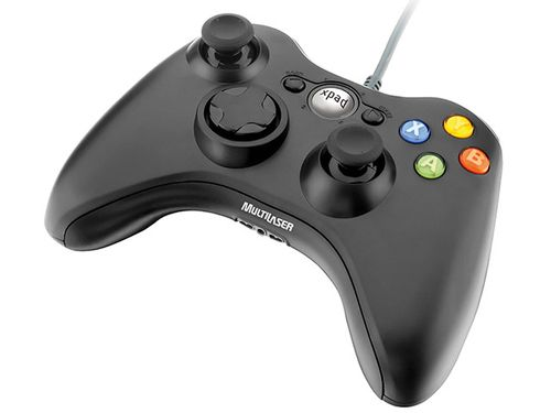 Controle para PC/Xbox 360 JS063 Multilaser - Preto