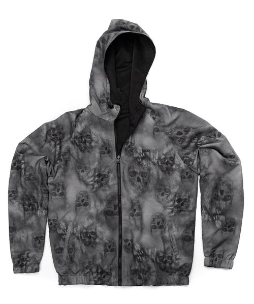 Jaqueta MCD Windbreak Blured Skull Cinza