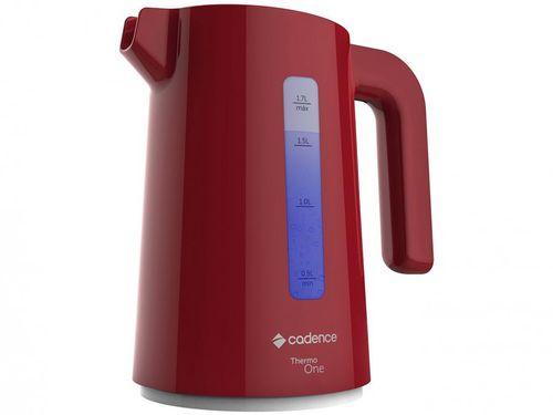 Chaleira Elétrica Cadence Thermo One Colors - CEL381 Vermelha 1,7L Desligamento Automático