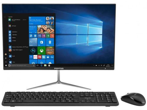 "Computador All in One Positivo Union C464A-21 - Intel Dual Core 4GB 64GB LED 21,5"" Windows 10 Home"