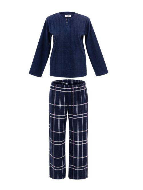 Pijama Longo Manga Longa Soft Plus Size Kirtsty