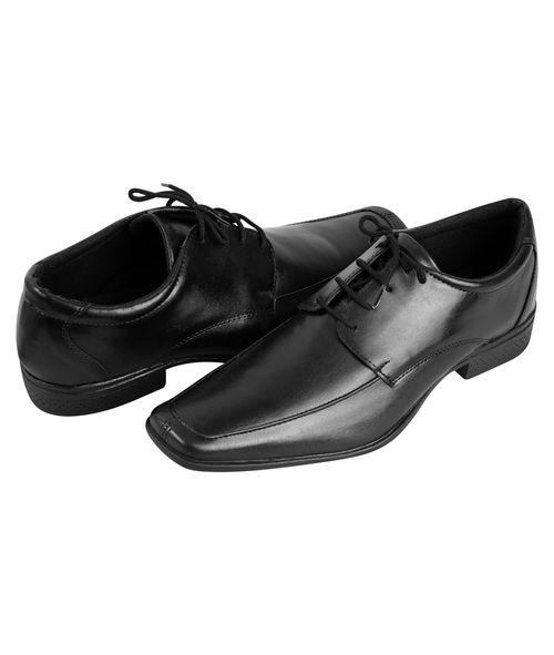 Sapato Amarrar Couro Sintético Preto