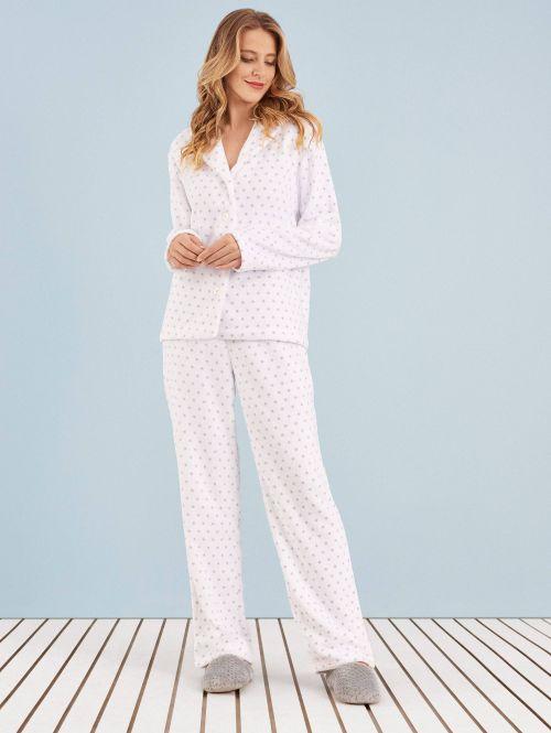 Pijama Manga Longa Soft Aberto Giovana