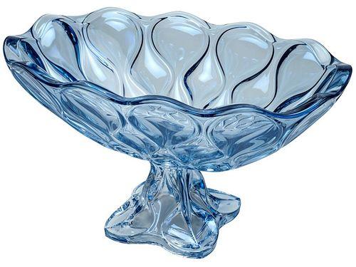 Fruteira de Mesa de Cristal Wolff Redonda - 26046 Azul