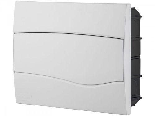 Quadro de Distribuição 12 DIN 8 NEMA Tramontina - Embutir Branco