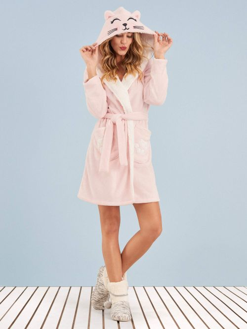 Robe Manga Longa Soft Kitty Cat