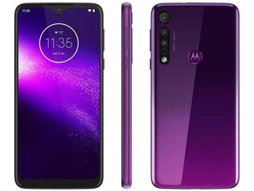 "Smartphone Motorola One Macro 64GB Ultra Violeta - 4G 4GB RAM Tela 6,2"" Câm. Tripla + Câm. Selfie 8MP"