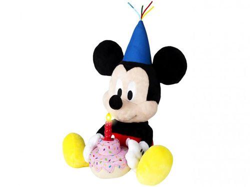 Pelúcia Mickey Happy Birthday 16cm Emite Sons - Multikids