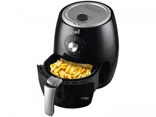 Fritadeira Elétrica sem Óleo/Air Fryer Nell Smart - Preto 3,4L com Timer
