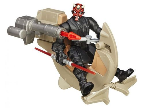 Boneco Star Wars Hero Mashers - Sith Speeder e Darth Maul com Acessório Hasbro