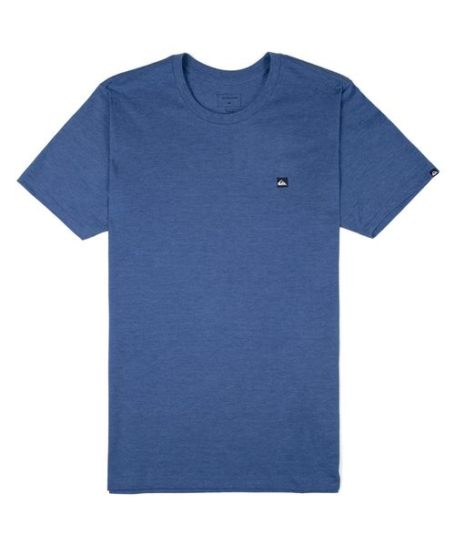 Camiseta Quiksilver Chest Transfer Color Azul Mescla