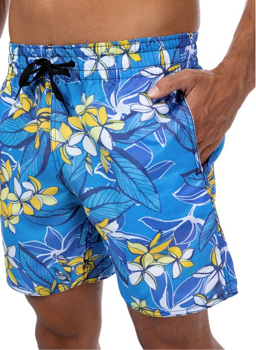 Shorts Agua Folhagens