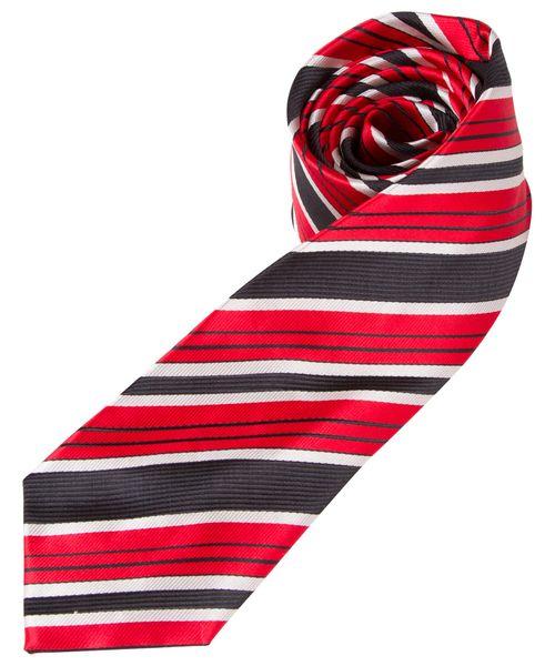 Gravata Masculina Vermelha Listrada