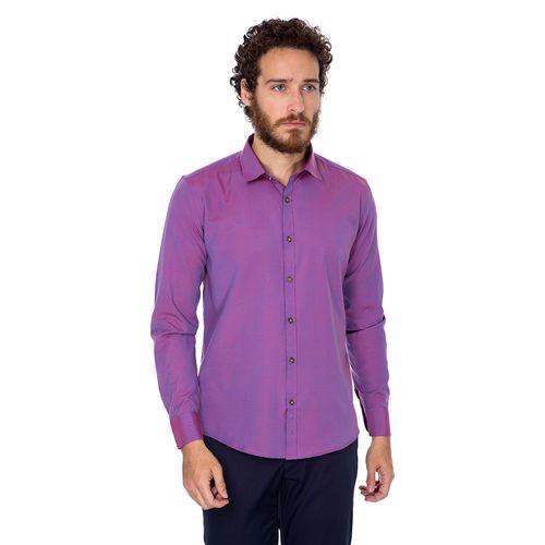 Camisa Social Maquineta Pontilhada