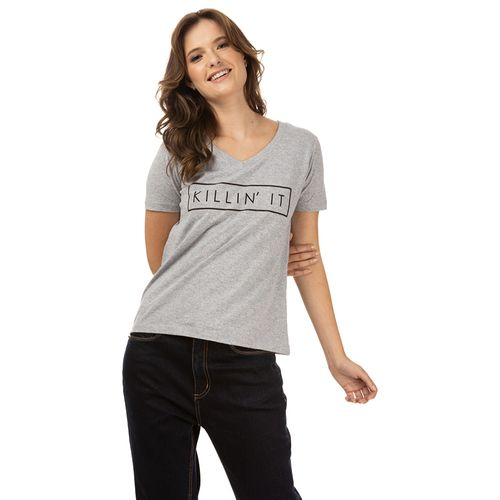 Camiseta Decot V Estamp Killin It