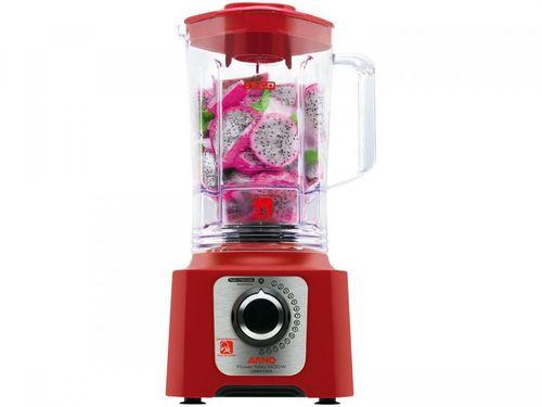 Liquidificador Arno Power Max 1400 LN56 3,1L - Vermelho 15 Velocidades 1400W