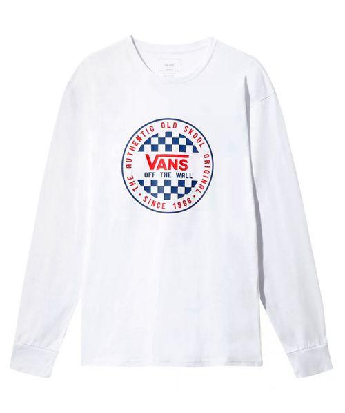 Camiseta Vans OG Checker ML Branca