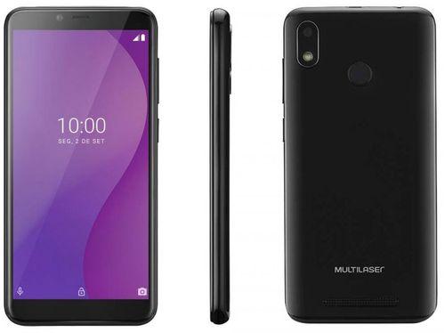 """Smartphone Multilaser G 16GB Preto 4G Octa-Core - 1GB Tela 5,5"""" Câm. 5MP + Selfie 5MP Dual Chip"""