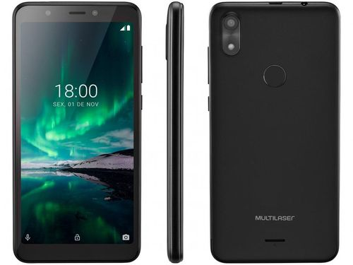 """Smartphone Multilaser F Pro 16GB Preto 4G - 1GB Tela 5,5"""" Câm. 5MP + Selfie 5MP Dual Chip"""