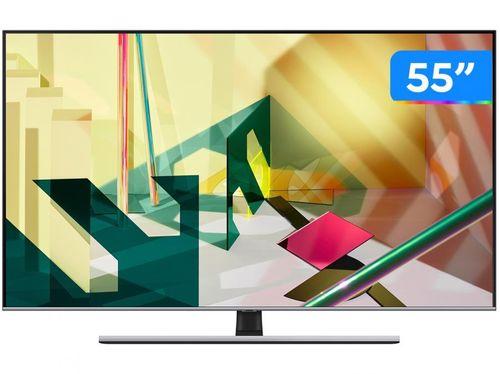 """Smart TV 4K QLED 55"""" Samsung QN55Q70TAGXZD - Wi-Fi Bluetooth HDR 3 HDMI 2 USB"""