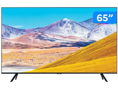 """Smart TV 4K LED 65"""" Samsung UN65TU8000GXZD - Wi-Fi Bluetooth HDR 3 HDMI 2 USB"""