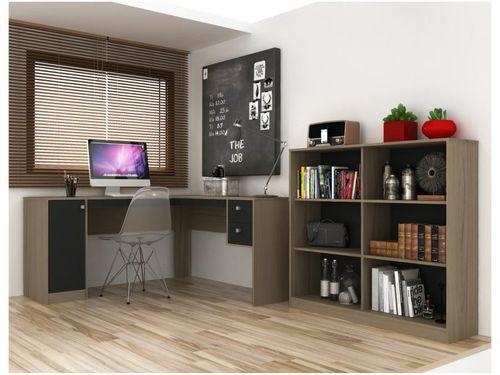 Conjunto Escritório Hecol Móveis Home Office - HO-2977 2 Peças
