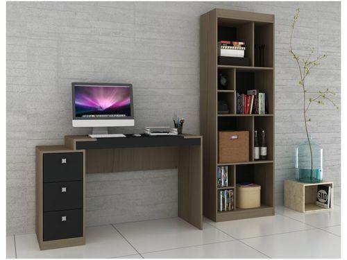 Conjunto Escritório Hecol Móveis Home Office - HO-2972 2 Peças