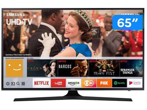 "Smart TV 4K LED 65"" Samsung 65MU6100 Wi-Fi - Conversor Digital 3 HDMI 2 USB"