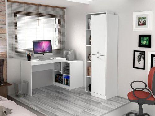 Conjunto Escritório Hecol Móveis Home Office - HO-2962 2 Peças