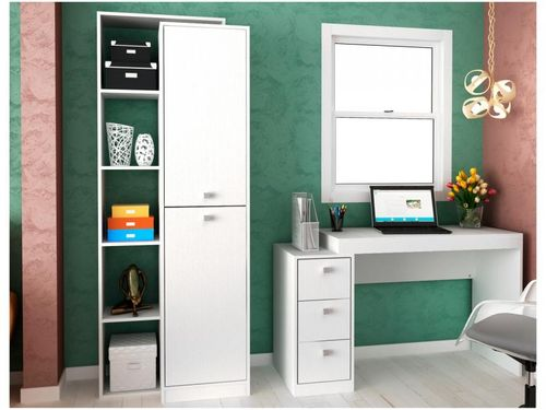 Conjunto Escritório Hecol Móveis Home Office - HO-2958 2 Peças