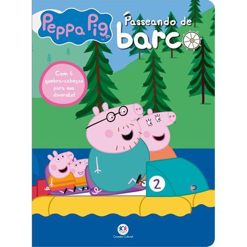 Peppa Pig - Passeando de barco - Com 4 quebra-cabeças para sua diversão!