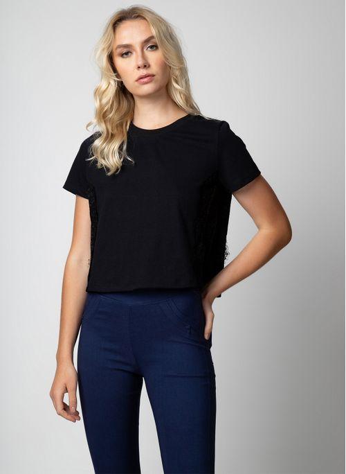 Camiseta TNG Com Renda Feminino