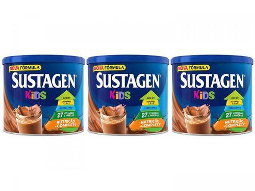 Kit Sustagen Kids Chocolate 380g - 3 Unidades