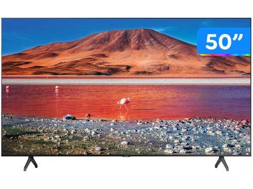 """Smart TV 4K LED 50"""" Samsung UN50TU7000GXZD - Wi-Fi Bluetooth HDR 2 HDMI 1 USB"""