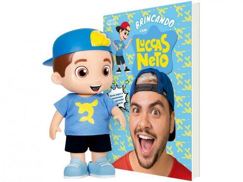 Boneco Luccas Neto 27cm - Rosita + Livro Brincando com Luccas Neto