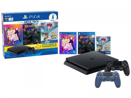 PlayStation 4 Bundle V11 1TB 2 Controles Sony - com 5 Jogos PS Plus 3 meses