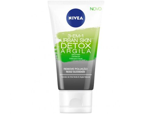 Máscara Facial Nivea Urban Skin Detox Argila - 166g