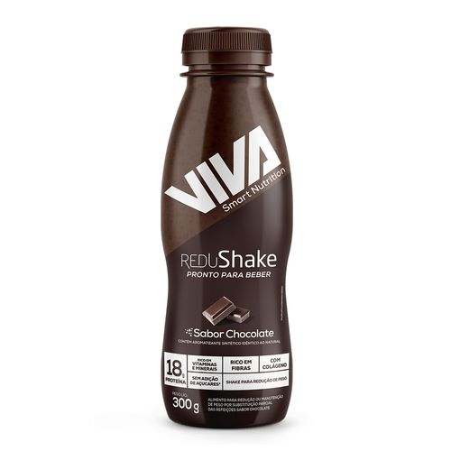 Redushake Pronto Para Beber Viva Smart Nutrition - Chocolate - 12 Unidades