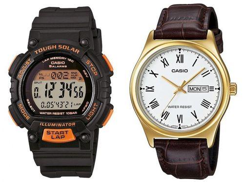 Relógio Masculino Casio Digital - STL-S300H-1BDF + Relógio Masculino MTPV006GL7BUDF