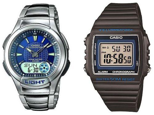 Relógio Masculino Casio Anadigi Mundial - AQ-180WD-2AV + Relógio Masculino W-215H-8AVDF