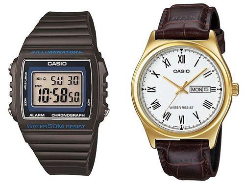 Relógio Masculino Casio Digital W-215H-8AVDF - Cinza + Relógio Masculino Analógico MTPV006GL7BUDF