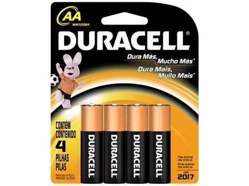 Pilha Alcalina AA 2700mnAh 4 Unidades - Duracell