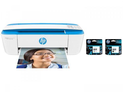 Impressora Multifuncional HP DeskJet Ink Advantage - 3776 + Cartucho de Tinta Colorido + Cartucho Preto
