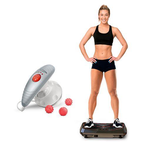 Plataforma Vibratória Genis Energym Pro +  Massageador Spin Doctor Be Emotion