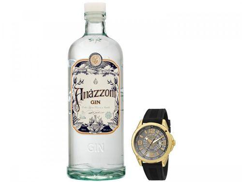 Relógio Masculino Condor Analógico Ritmo - Envolvente CO2115WT/8C + Gin Amázzoni 750ml