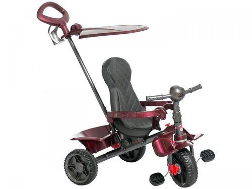Triciclo Infantil Smart 266 com Empurrador - com Capota Bandeirante