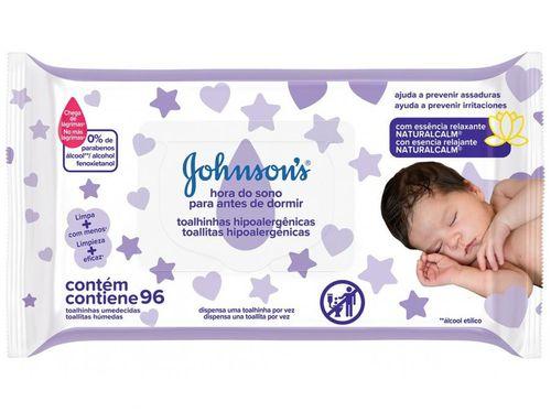 Lenço Umedecido Johnsons Baby Hora do Sono - 96 Unidades