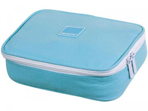 Estojo Escolar Colors Azul com Zíper - Container Soft Luxo Dermiwil