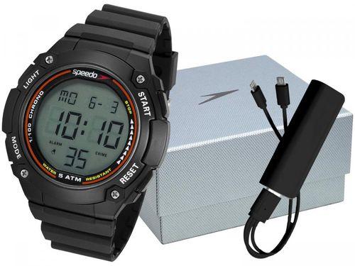 Relógio Masculino Speedo Digital - 81192G0EVNP2K1 Preto com Carregador Portátil